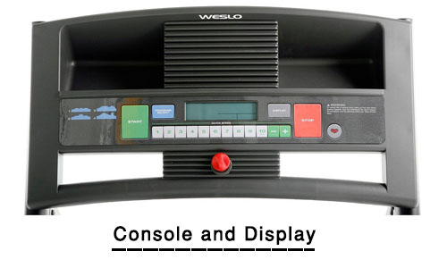 weslo treadmill console